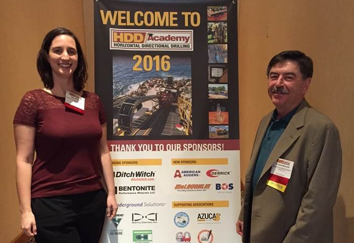 Trenchless Experts Dave Bennett and Mary Neher presented at the 2016 HDD Academy in Phoenix, AZ.